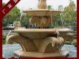 广场喷泉流水 人物雕刻水钵 欧式水钵