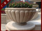 市政花园花钵石雕 精美雕花花钵 花岗岩花钵