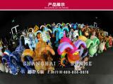 模型专家上海升美玻璃钢雕塑厂家彩绘狗雕塑定做商业美陈雕塑定制