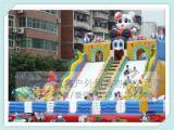 厂家低价促销儿童游乐滑梯充气跳跳床儿童拓展训练设备