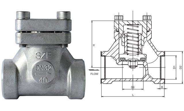 dh-10/15/20/25/32/40d低温升降式止回阀图片