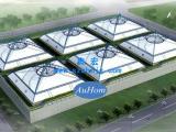 污水池膜加盖工程|污水池加盖膜布|反吊膜找奥宏