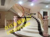 酒店会所纯铜楼梯栏杆扶手