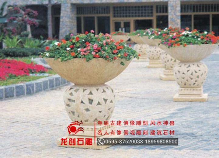 惠安石雕花钵 法式喷泉花钵 欧式花钵生产厂家