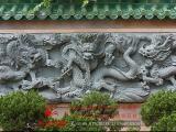 龙堵浮雕壁画 九龙浮雕壁 寺庙外墙浮雕文化墙