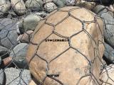 防腐低碳钢丝格宾石笼/六边形镀锌覆塑格宾网1m放隔板