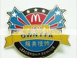 上海浮雕立体纪念胸章定制 镀金银珐琅徽章制作厂家