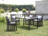 供应藤编桌椅玻璃桌椅碳化木桌椅