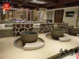 度假村温泉流水洗浴泡澡陶瓷养生大缸生产厂家