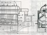 十吨冷凝蒸汽锅炉图纸