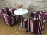 南山中式咖啡厅餐桌 休闲板式餐桌椅 两人圆形餐桌