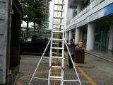 铝合金伸缩梯 铝合金人字梯 单面双面伸缩梯厂家有现货