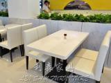 高档人造石餐桌椅组合 咖啡厅茶餐厅奶茶店桌椅 可定做