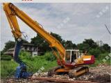 拉森钢板桩水泥预制桩专用挖掘机打桩设备
