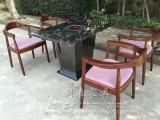 横岗养生料理火锅 蒸汽火锅餐桌 海鲜蒸汽石英石火锅桌椅