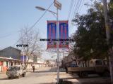 铝型材户外道旗架,户外灯杆广告牌