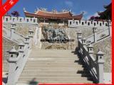 石材造型栏板 花岗岩河道石栏 寺庙灯笼石雕栏杆