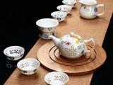 年终福利景德镇茶具批发定做,公司礼品陶瓷茶具定做价格