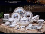 哪里可以定做年终礼品陶瓷餐具,青花瓷餐具套装批发价格