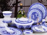 企业过年礼品陶瓷餐具定制,高档骨瓷餐具套装批发