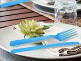 加厚西式餐具三件套 塑料刀叉勺套装 塑胶餐具套装
