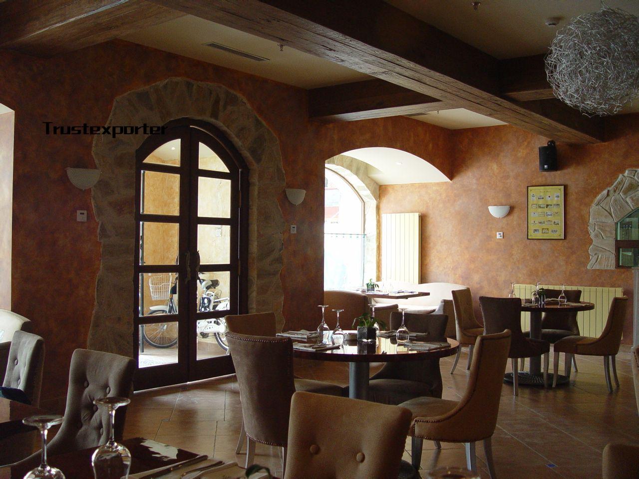 酒店 别墅 餐厅墙面艺术漆图片