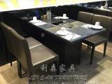 8人位餐火锅桌/电磁炉火锅桌/火锅桌制造定做厂家