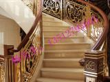 艺术楼梯护栏 星级酒店旋转铝板雕刻雕花楼梯护栏栏杆