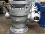 Q47Y-600LBC美标高压固定式硬密封法兰铸钢球阀