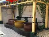 生产温泉中心陶瓷泡汤缸、沐浴净身水疗spa浴缸