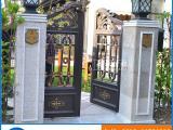 厂家直销别墅铝合金大门 铝艺庭院花园门 联排别墅电动门