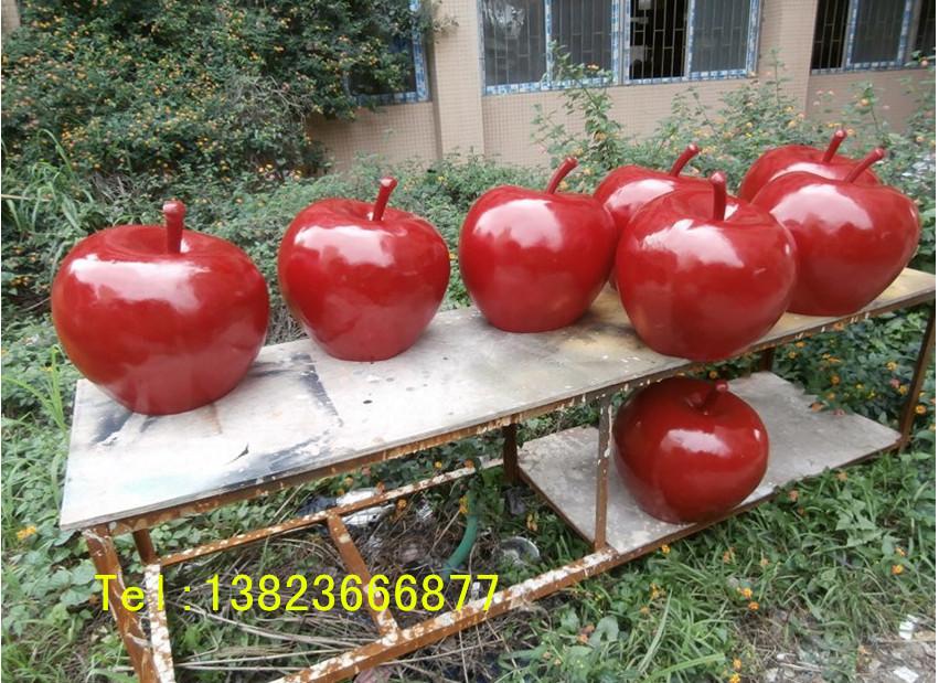金秋硕果系列玻璃钢水果苹果雕塑工程