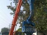 打桩机-日立挖掘机安装打桩振动锤 沉桩机