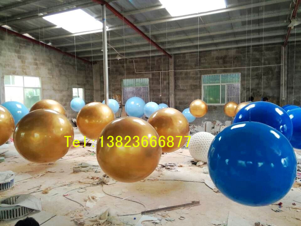 定制玻璃钢圆球透光镂空大圆球树脂雕塑摆件