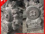 古老石雕石鼓|狮型抱鼓石门枕石|民间石镙鼓加工