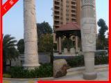 广场文化柱石雕 十二生肖文化柱 学校石雕文化柱设计加工