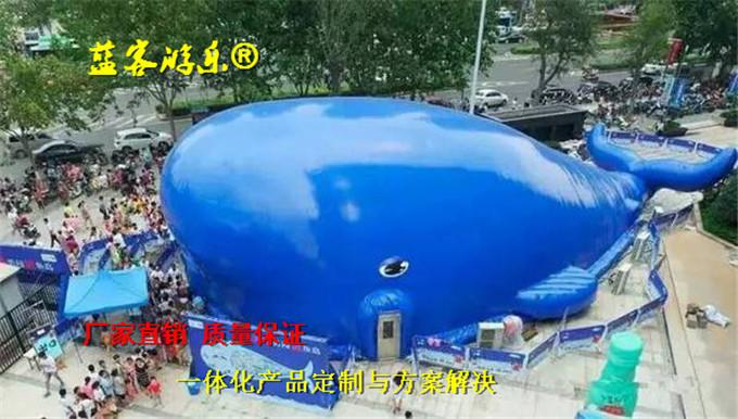 鲸鱼岛充气气模 蓝鲸鱼海洋球池嘉年华设备供应商