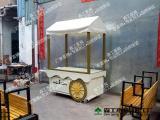 曾本厂家定制供应商场售货车组装流动式实木售货车