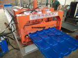 全自动竹节琉璃瓦压瓦机压型设备
