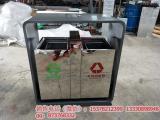 环畅长期供应hc1028户外定制款不锈钢垃圾桶  分类果皮箱