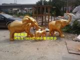 仿真动物形象雕塑 玻璃钢大象雕塑厂家