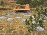 景观小品生态仿木纹靠背椅子坐凳桌凳设计制作 预订