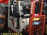 日本原装进口二手电动叉车 1吨尼桑侧移电瓶叉车转让