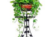 欧式铁艺花架子 阳台室内客厅 绿萝吊兰单层花盆架 落地式花架