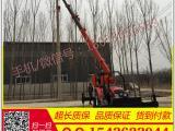 16T吊车改装挖坑机 吊车挖坑机 拖拉机吊车钻孔机价格