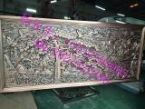 酒店艺术浮雕壁画背景 数控精雕铝板浮雕壁画装饰挂件