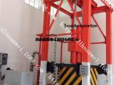 厂家供应三缸四柱垂直式垃圾压缩站河南德隆