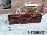装饰花箱定做批发户外园林绿化工程碳化防腐木木栏栅花箱