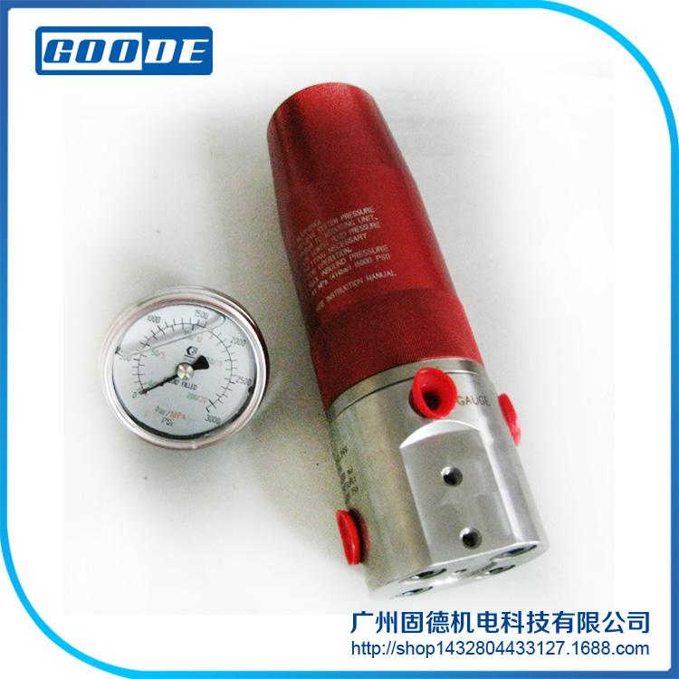 代理销售原装进口胶泵流体调压器弹簧调节附带压力表