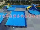 水上乐园支架水池支架游泳池厂家河南华龙游乐